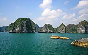 Фотографии Вьетнам Тропики Залив Скале Lan Ha Bay