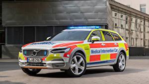 Картинки Вольво Тюнинг Универсал 2019 V90 Cross Country Medical Intervention Car Автомобили