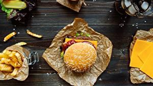 Фотография Гамбургер Быстрое питание Кетчуп