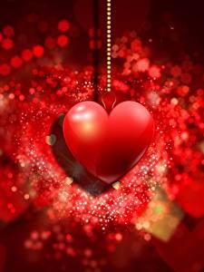 Обои День всех влюблённых Серце Красных