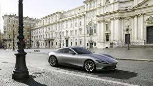 Фото Феррари Серый Металлик Купе Roma, 2020 Автомобили