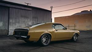 Картинки Форд Желтый Mustang RDJ Boss 302 SpeedKore