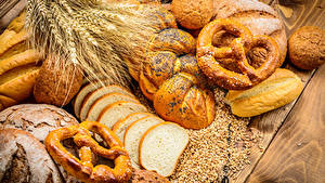 Картинка Выпечка Хлеб Булочки Колосок
