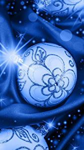 Картинки Рождество Шарики Лучи света Голубых
