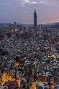 Картинки Дома Тайвань Тайбэй Мегаполис
