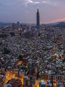 Картинки Дома Тайвань Тайбэй Мегаполиса