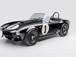 Фотографии Shelby Super Cars Ретро Серый фон Черные Металлик Кабриолет 1962 Shelby Cobra 289 Автомобили