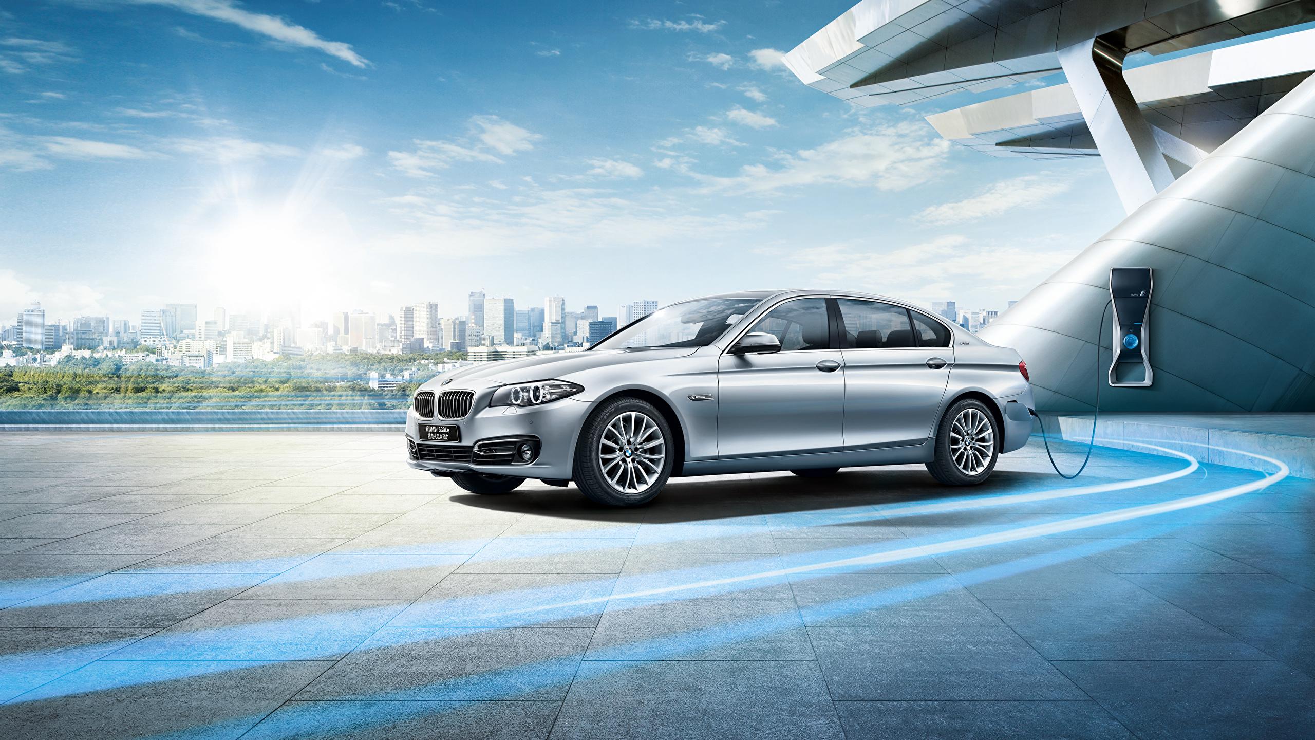 Картинки BMW F18 Седан Автомобили 2560x1440 БМВ авто машины машина автомобиль