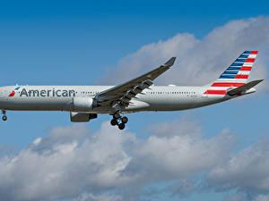 Фотографии Эйрбас Самолеты Пассажирские Самолеты Сбоку American Airlines, A330-300