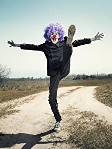 Фотография Мужчины Клоун Ноги