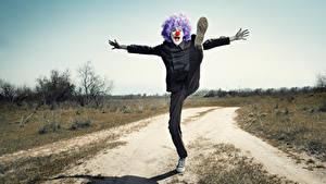 Фотография Мужчины Клоуна Ног