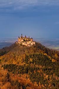 Картинка Замки Германия Горы Hohenzollern Castle Hechingen