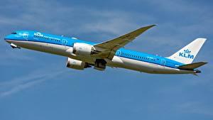 Картинки Самолеты Пассажирские Самолеты Боинг Сбоку KLM, AIRFRANCE, 787-9