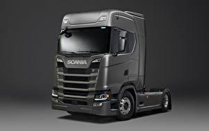 Фотография Грузовики Scania Серый S 500