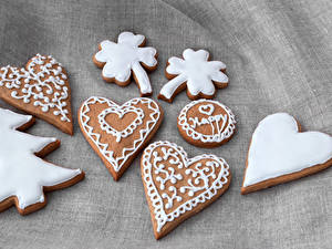 Фотография Новый год Печенье Дизайн Елка Сердечко Пища