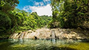 Фото Колумбия Тропический Водопады Лес Речка Guajira