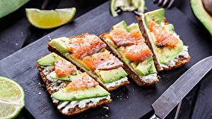 Фото Фастфуд Бутерброды Хлеб Рыба