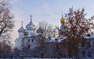 Фотографии Россия Зимние Церковь Vologda Города