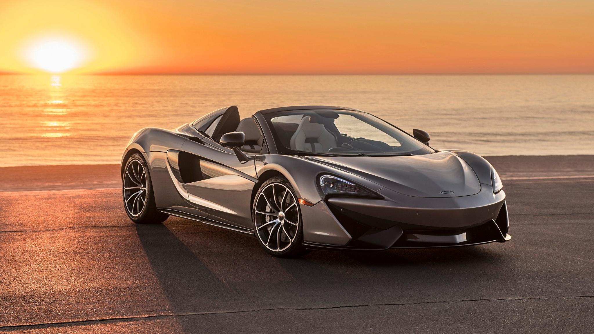 Фотография Макларен spider 570s Родстер Автомобили 2048x1152 McLaren Авто Машины
