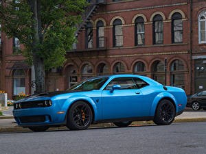 Картинка Dodge Голубой Металлик 2019 Challenger SRT Hellcat Redeye Widebody Авто