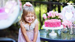 Фотографии День рождения Торты Девочки Радость ребёнок