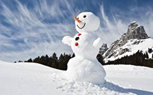 Фото Снеговик Снега