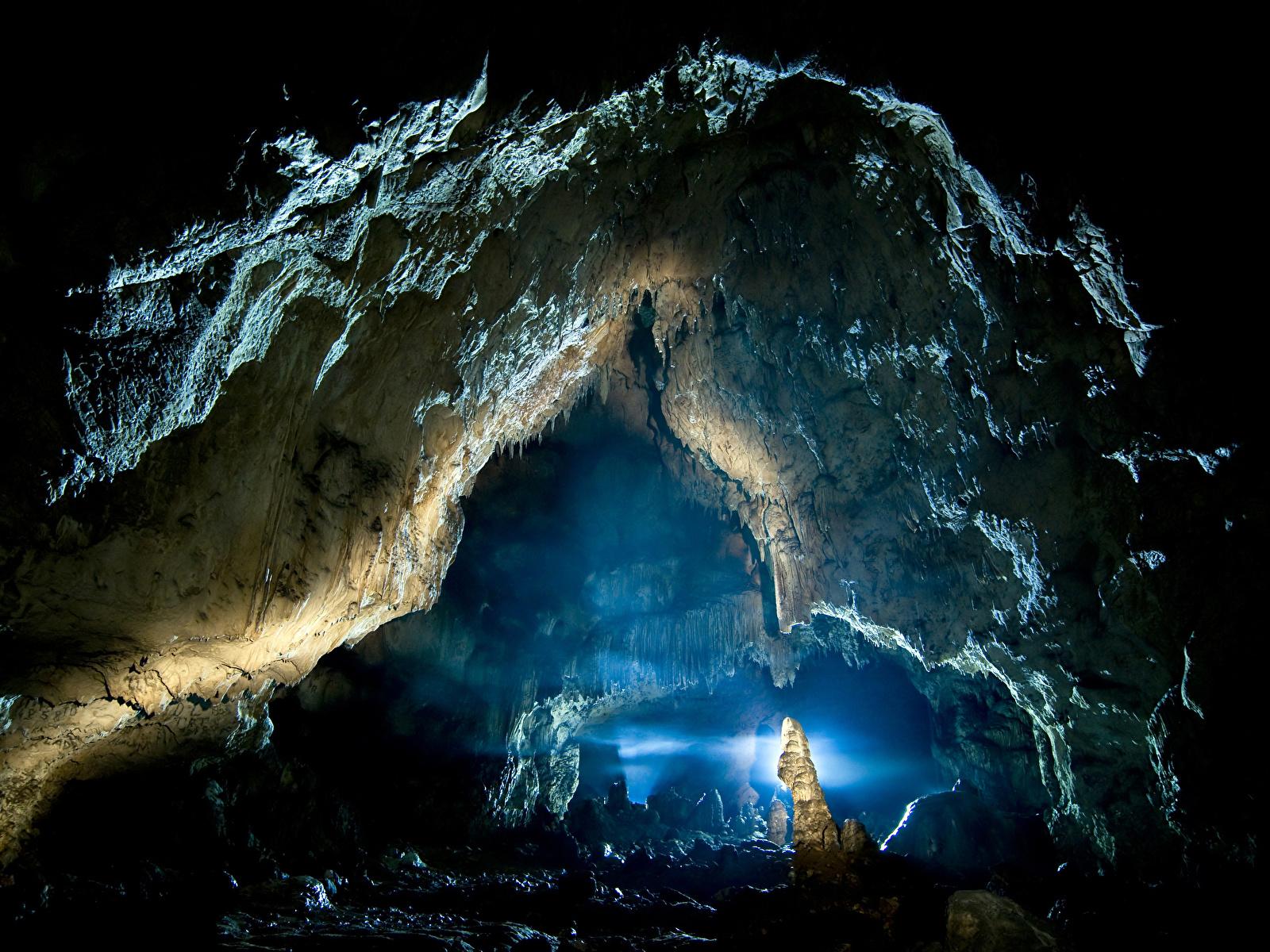 Фото Скала Пещера Природа 1600x1200 Утес скалы скале пещере пещеры