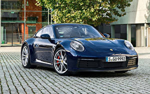 Фотографии Porsche Синий Металлик 2019 911 Carrera S Worldwide Авто