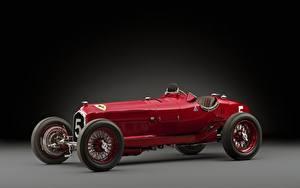 Обои Ретро Alfa Romeo Красный 1932 Tipo B P3 Автомобили