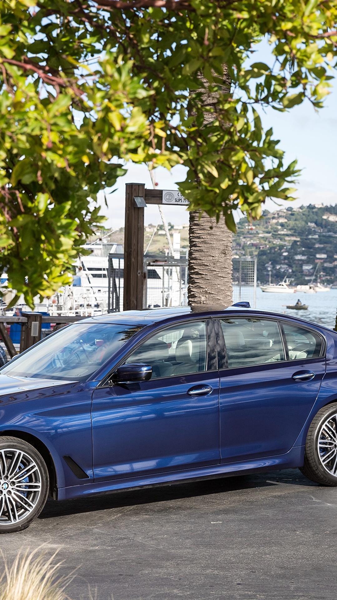 Фото BMW 2018 540i Sedan M Sport Синий Металлик Автомобили 1080x1920 БМВ синих синие синяя Авто Машины