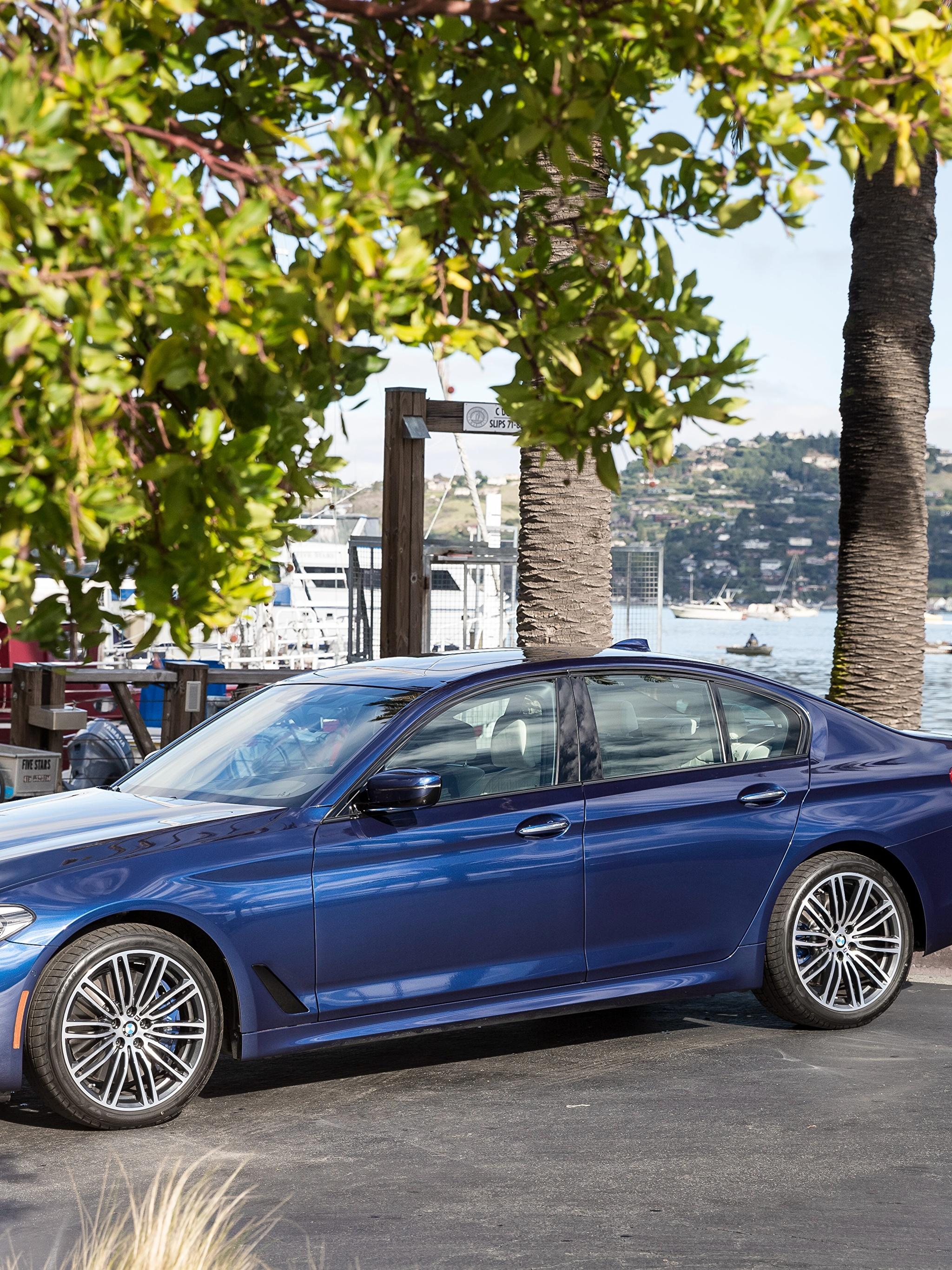 Фото BMW 2018 540i Sedan M Sport Синий Металлик Автомобили 2048x2732 БМВ синих синие синяя Авто Машины