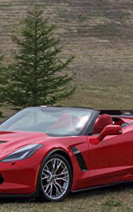 Фотографии Chevrolet Кабриолет Красный Металлик 2015–17 Corvette Z06 Автомобили
