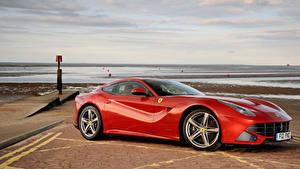 Обои Феррари Красный Металлик 2012-17 F12berlinetta Pininfarina Машины