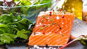 Фотографии Рыба Вблизи Специи Еда