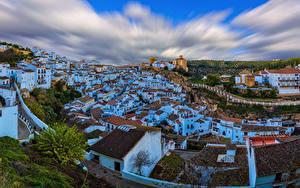 Фото Испания Здания Крыше Setenil de las Bodegas город
