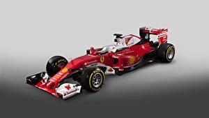 Фотографии Ferrari Формула 1 Сером фоне Красный 2016  SF16-H  Formula Cars машины Спорт