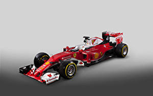 Фотографии Ferrari Формула 1 Серый фон Красный 2016  SF16-H  Formula Cars Авто Спорт