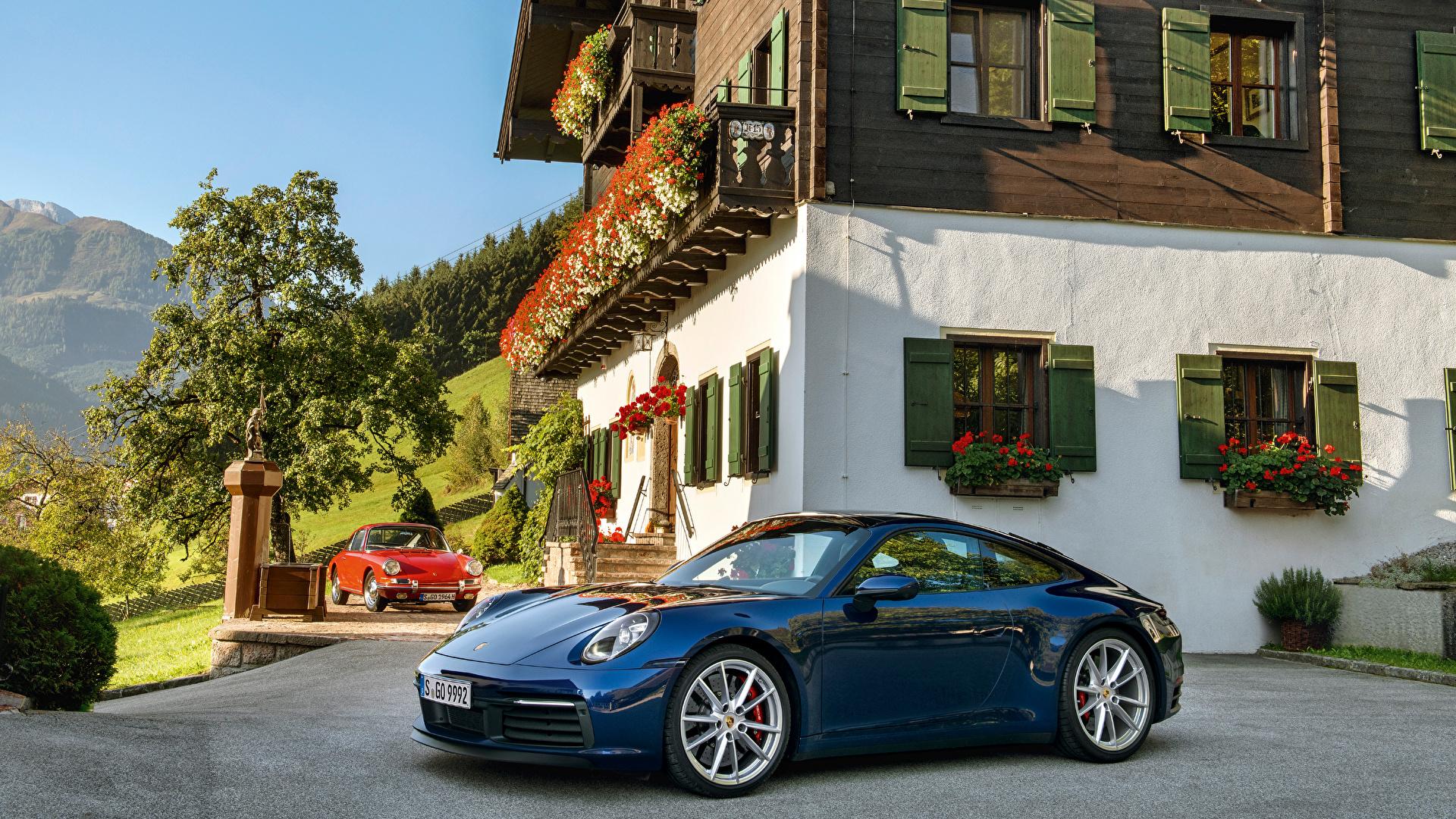 Фото Porsche 1964-2019 911 Синий Металлик Автомобили 1920x1080 Порше синих синие синяя авто машина машины автомобиль