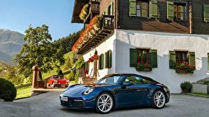 Фото Porsche Синий Металлик 1964-2019 911 автомобиль
