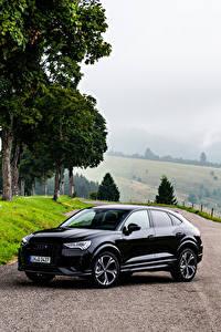 Фото Ауди Черная Металлик 2019 Q3 Sportback 45 TFSI quattro S line edition one Worldwide машина