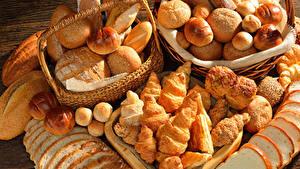 Обои Выпечка Хлеб Булочки Круассан Продукты питания