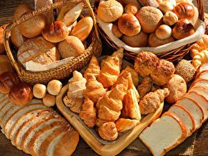 Обои Выпечка Хлеб Булочки Круассан