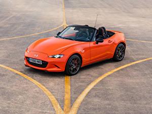 Обои Мазда Оранжевый Металлик Кабриолета 2019 MX-5 30th Anniversary Worldwide машина