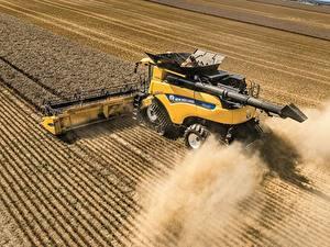 Фотография Сельскохозяйственная техника Поля Пшеница Зерноуборочный комбайн CR10.90 Revelatio