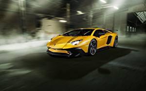 Картинка Lamborghini Желтый Aventador Novitec Torado LP 750-4