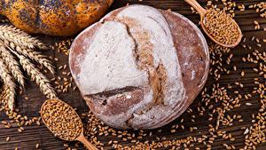 Фото Выпечка Хлеб Пшеница Колос Зерна Ложки