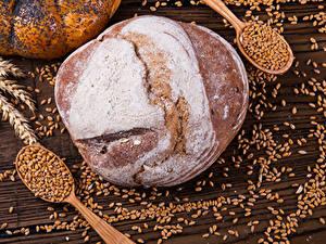 Фото Выпечка Хлеб Пшеница Колос Зерна Ложка Еда