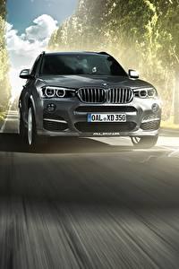 Картинки BMW Движение Спереди Серый 2014 F25 XD3 Bi-Turbo машины