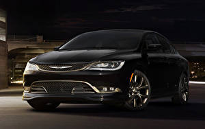 Фотографии Chrysler Черная 2016 200S Alloy Edition Автомобили