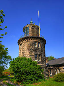 Фотографии Англия Маяк Bidston Hill Lighthouse Природа